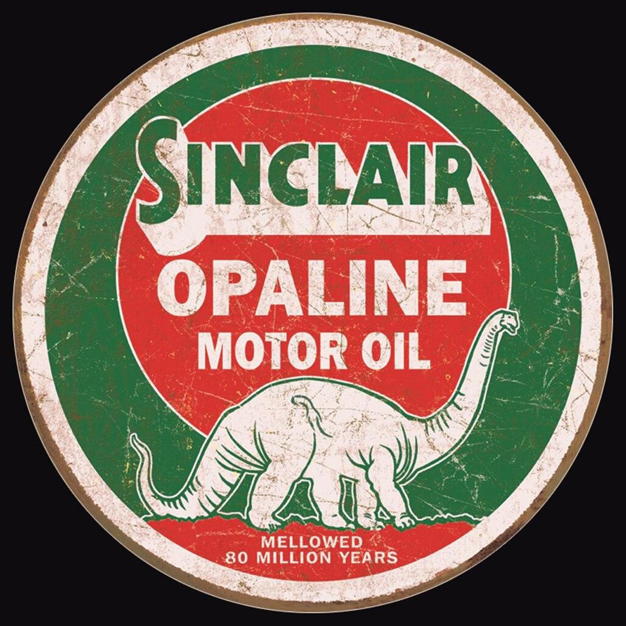 Sinclair Motor Oil Sinclair Opaline Round