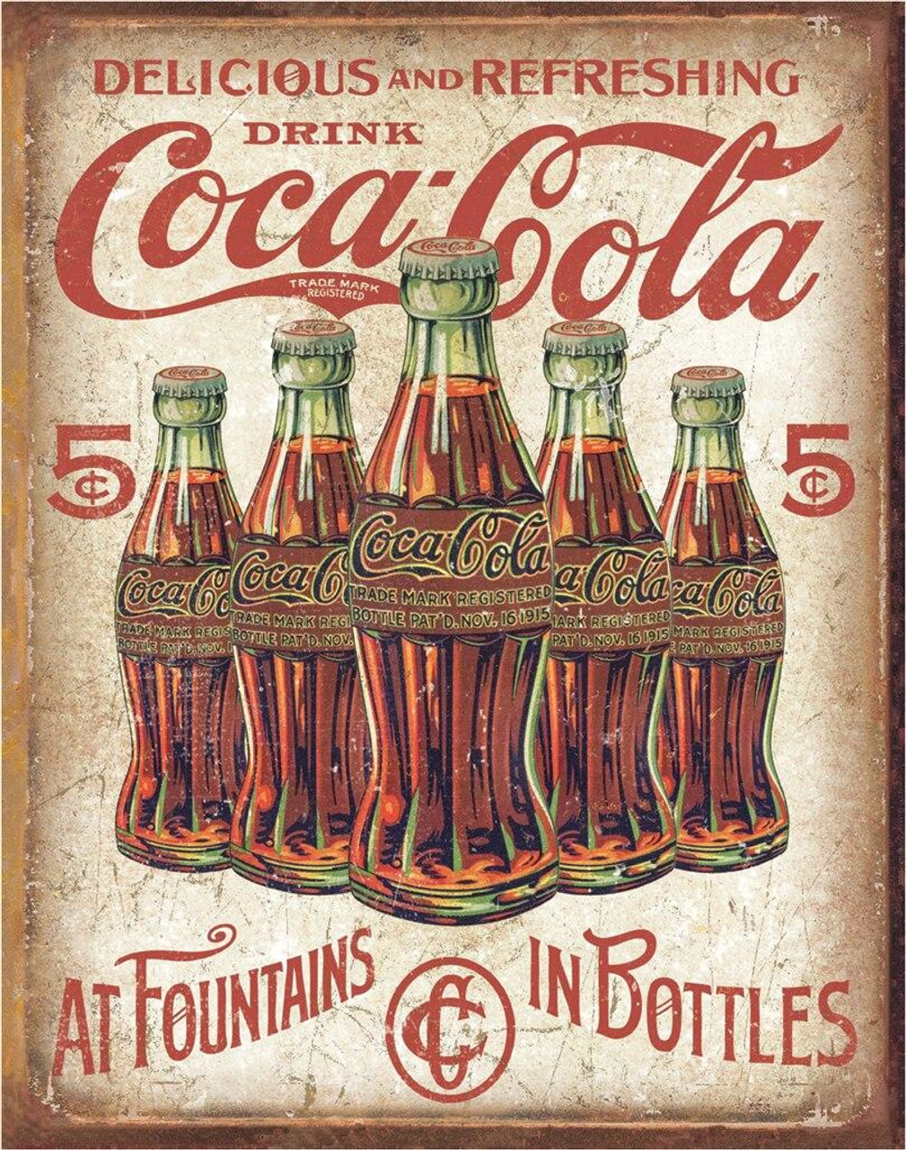 Coca-Cola COKE - 5 Bottles Retro