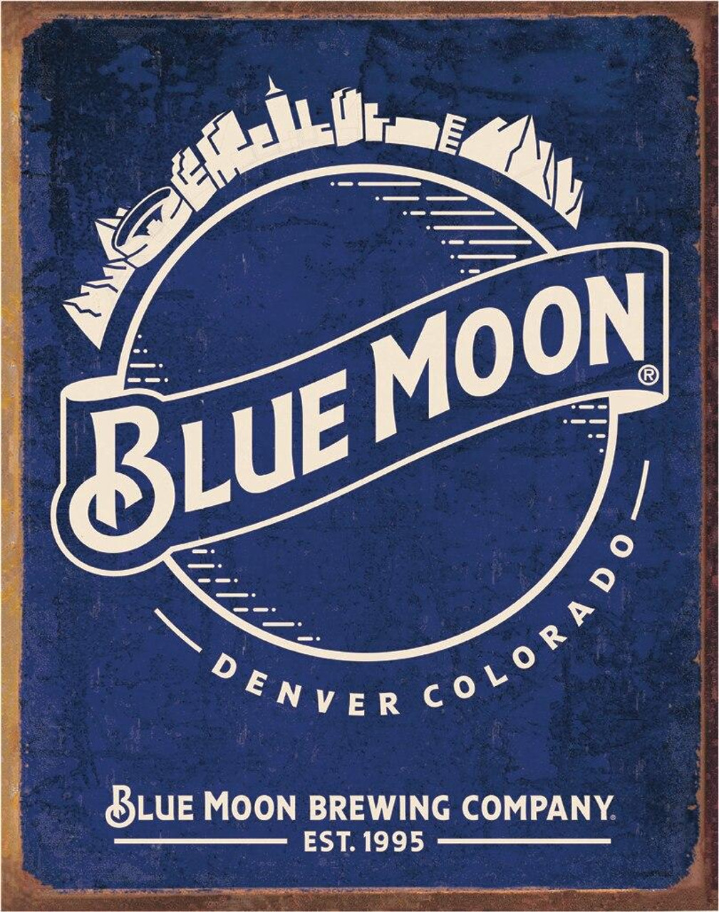 Molson Coors Blue Moon - Skyline Logo Retro