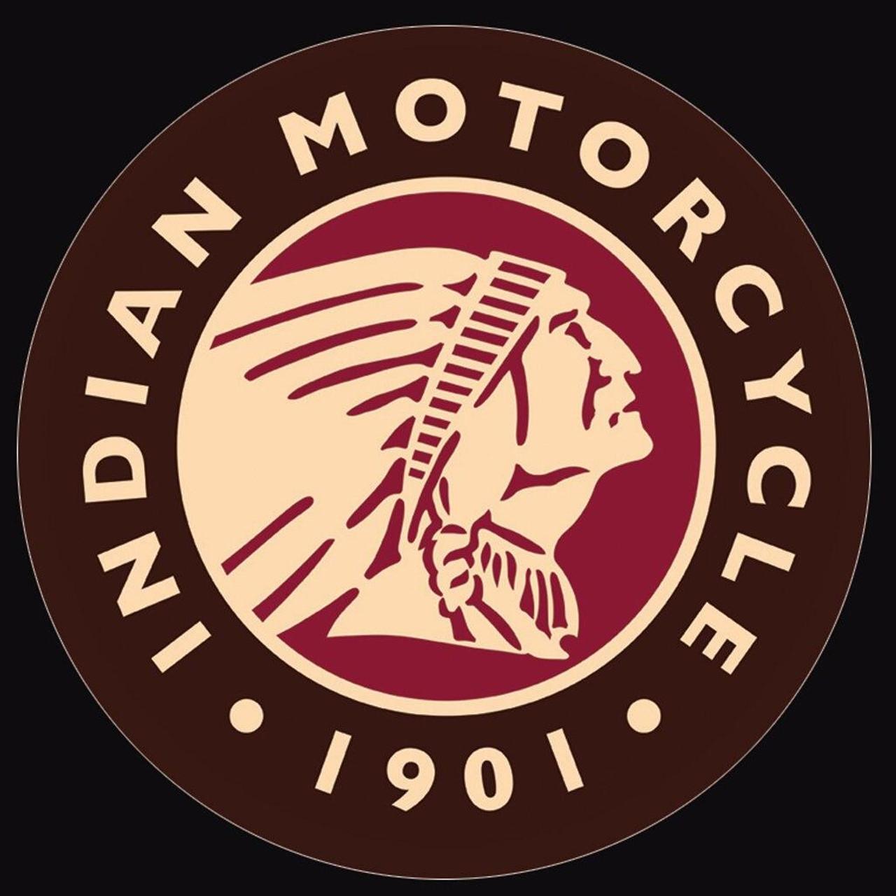 Indian Motorcycles Indian Logo Round
