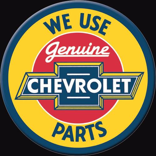 General Motors Magnet Chevy Parts Round