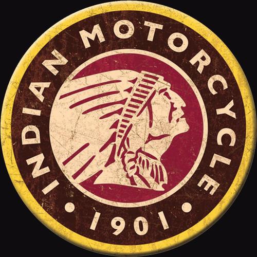 Indian Motorcycles Magnet Indian Logo Round
