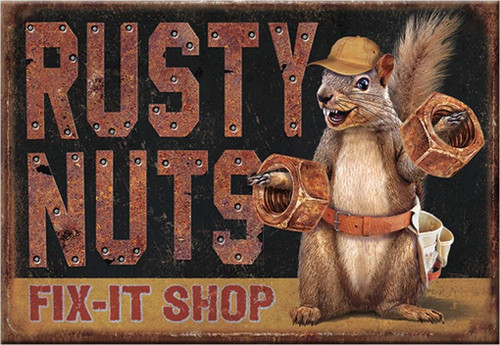 Magnet Rusty Nuts Garage