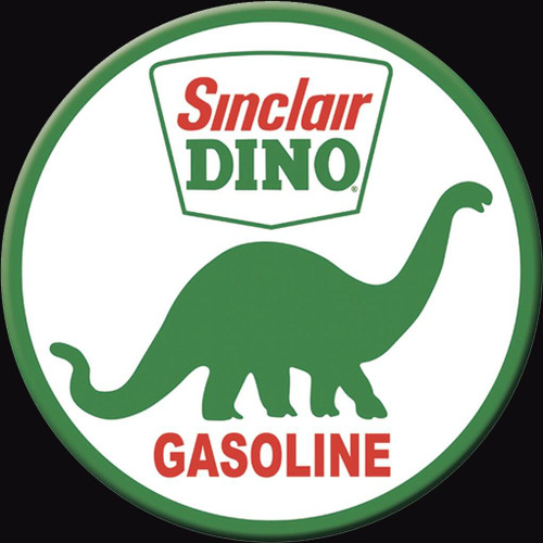 Sinclair Motor Oil Magnet Sinclair Dino Round