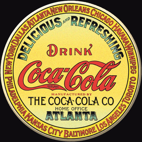 Coca-Cola Magnet COKE - Keg Label Round