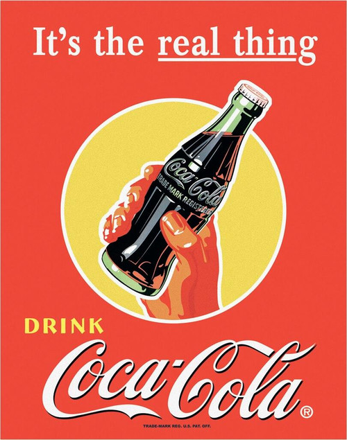 Coca-Cola COKE - Real Thing - Bottle in