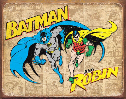 DC Comics Batman and Robin Weathered