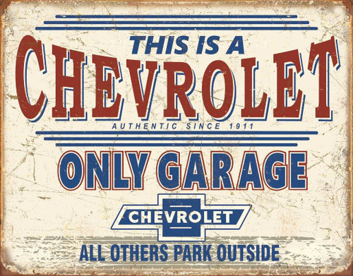 General Motors Chevy Only Garage