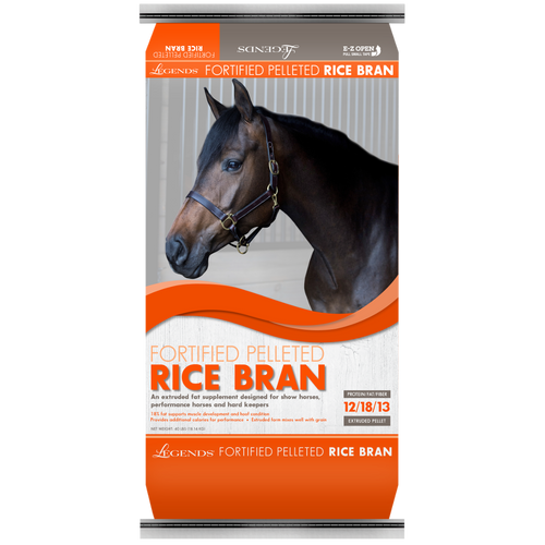 Legends Rice Bran Fortified Pelleted Horse Supplement