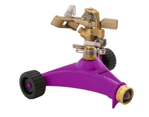 Dramm ColorStorm Metal Wheeled Base Impulse Sprinkler -  5281 sq ft