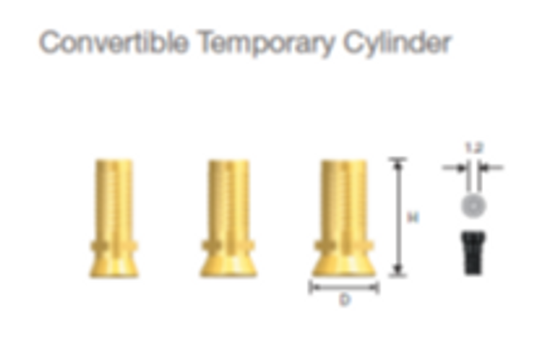 Convertible Temporary Cylinder