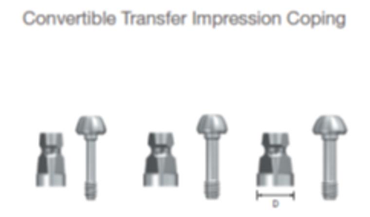 Convertible Transfer Impression Coping Mini/Reg