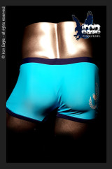 Iron Eagle Low Rise Trunks -aqua/navy