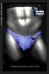 Iron Eagle Posing Trunks - Cornflower Blue  Satin Lycra