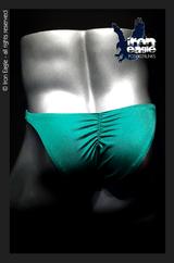 Iron Eagle Posing Trunks - Emerald Satin Lycra
