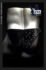 Iron Eagle Posing Trunks - Crystalized Black Velvet