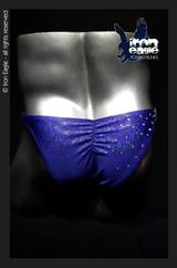 Iron Eagle Posing Trunks - Crystalized Royal Blue Dazzle Mystique©