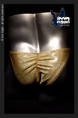 Iron Eagle Posing Trunks - Gold Hologram Mystique©