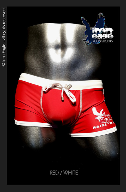 Iron Eagle Low Rise Trunks - red/white