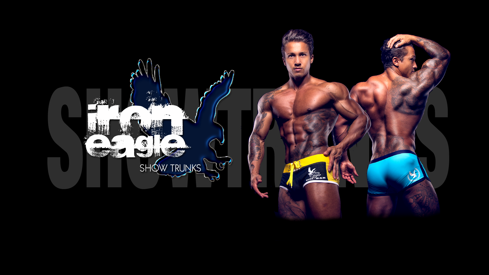 d04c454aa1534 Iron Eagle posing trunks and show shorts for fitness and bodybuilding shows