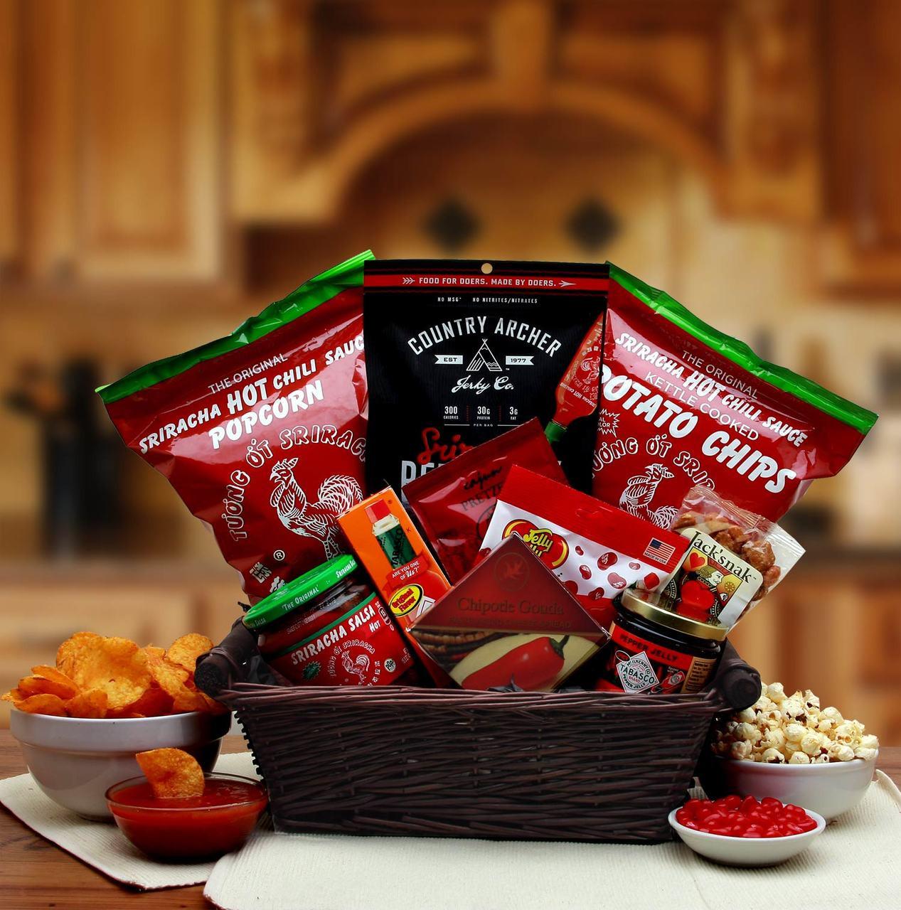 & Hot u0026 Spicy Sriracha Lovers Gift Basket - Baskets-n-Beyond
