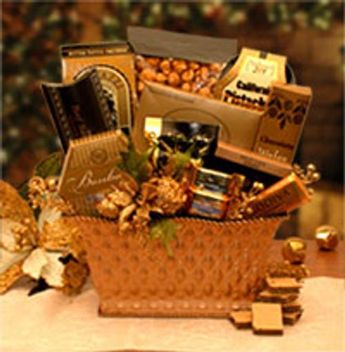 Golden Gatherings Holiday Gift Basket