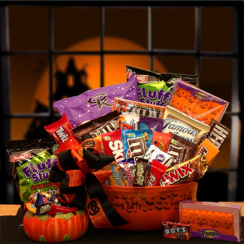 No Tricks Just Treats Halloween Goodie Bucket