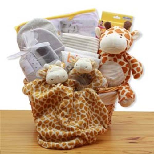 Jungle Safari New Baby Gift Basket - Yellow