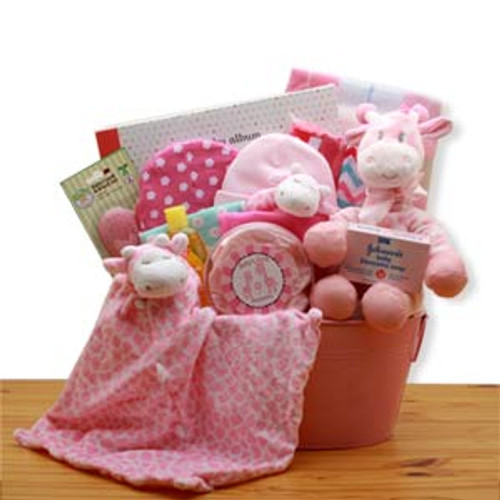 Comfy & Cozy Safari Friends New Baby Gift Basket