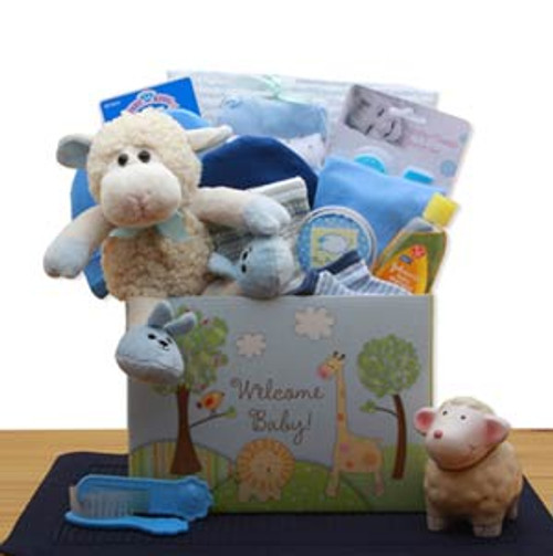 Welcome New Baby Gift Box - Blue