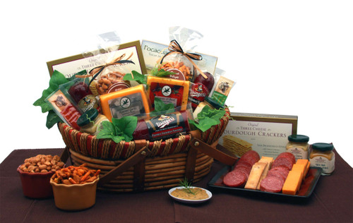Savory Favorites Meat and Cheese Gift Basket