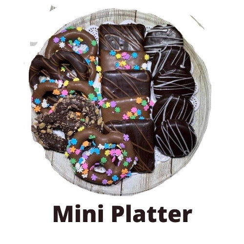 Easter chocolate platter