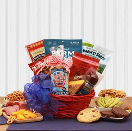 Proud To Be An American Patriotic Snack Gift Basket
