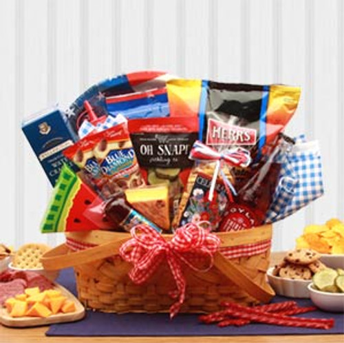 Celebrate America Picnic Gift Basket