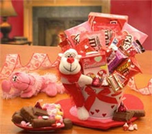 Monkey Love Valentines Gift Pail