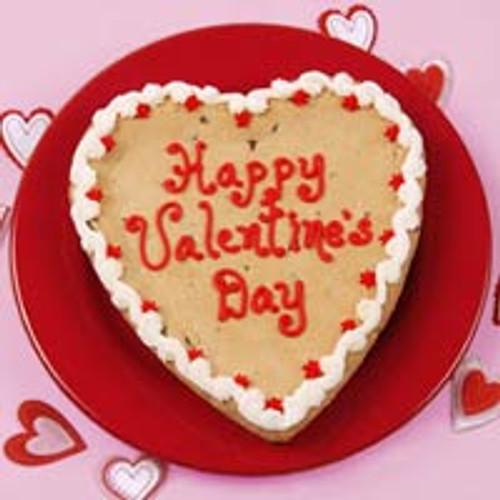 Happy Valentine's Big Heart Cookie