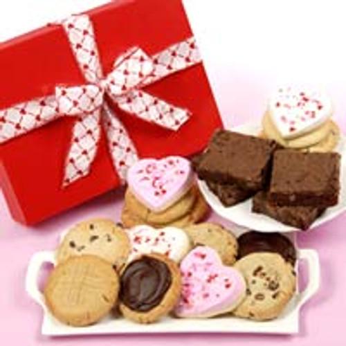 Happy Valentine's Cookies and Brownies Box