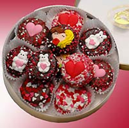 Valentines Double Dipped Oreo Cookies Tin - 16 Pc