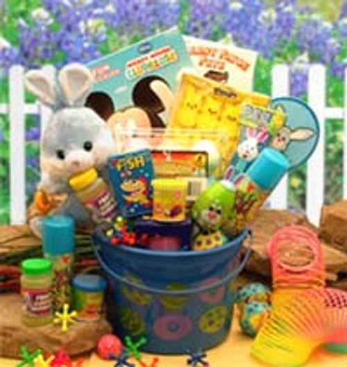 Little Bunny Blue Easter Fun Pail