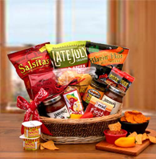 A Little Spice Gourmet Salsa & Chips Gift Basket