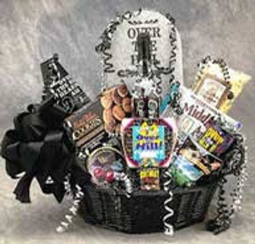 Over The Hill Birthday Basket