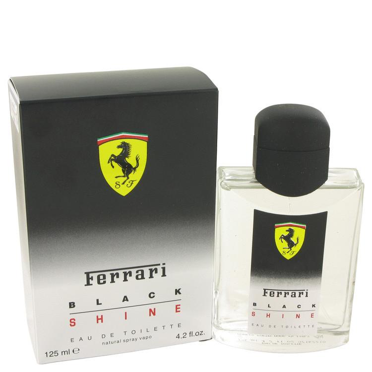 Black Shine for Men Cologne by Ferrari Edt Spray 4.2 oz