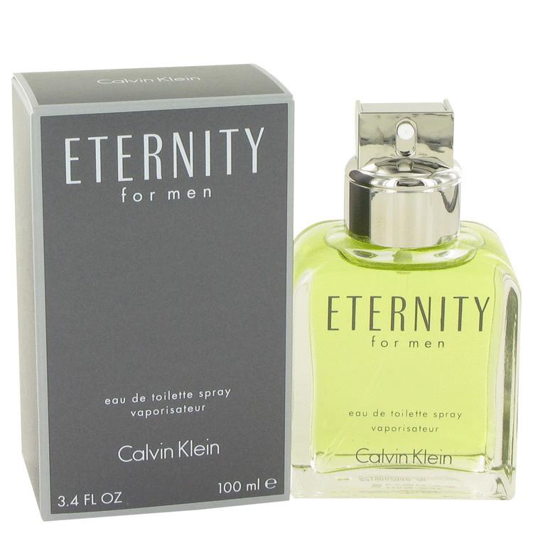 Eternity for Mens By Calvin Klein Eau de Toilette Edt Spray 3.4 oz