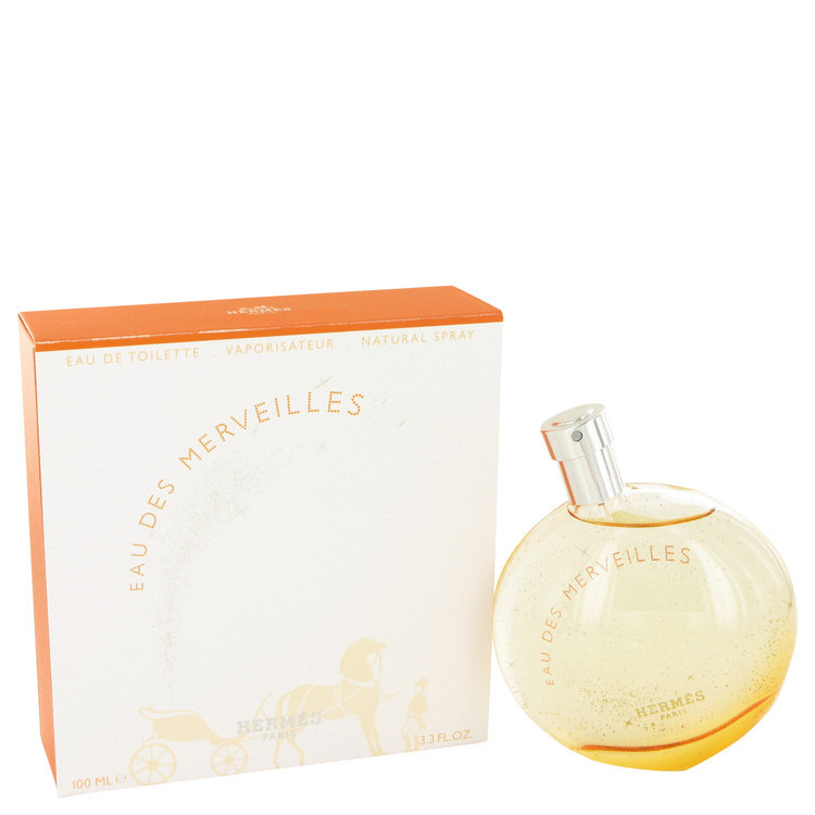 Eau Des Merveilles Womens Perfume by Hermes EDT Spray 1.6 oz