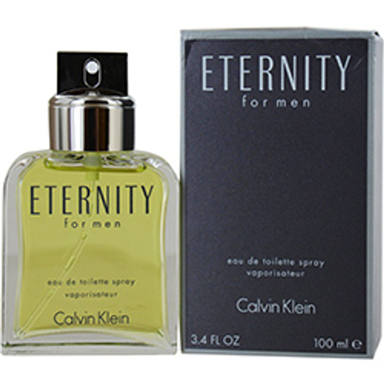 Eternity Cologne For Men by Calvin Klein Edt Sp 3.4 oz