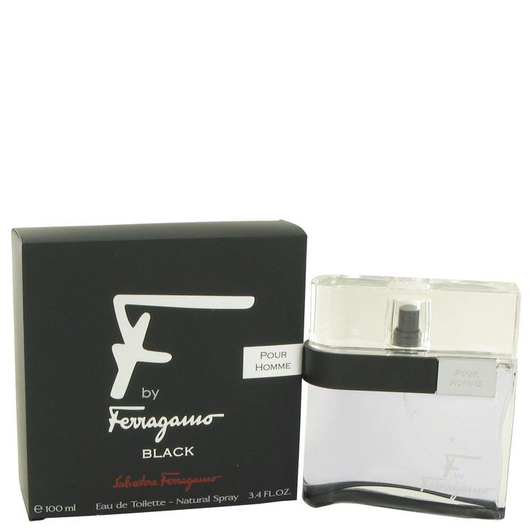 F Black For Men Cologne By Salvatore Ferragamo Edt Spray 3.4 oz