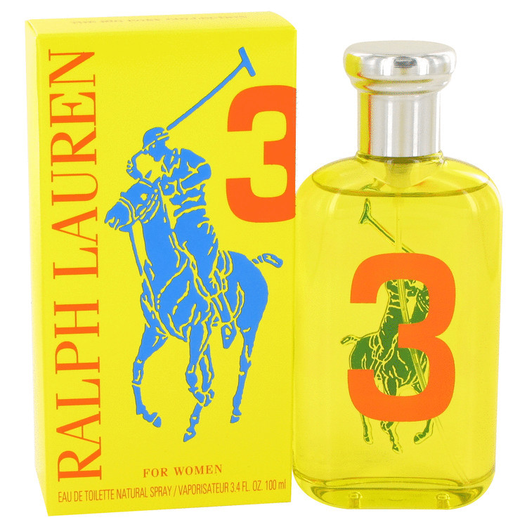 Big Pony Yellow 3 Fragrance by Ralph Lauren For Women Eau de Toilette Spray 3.4 oz