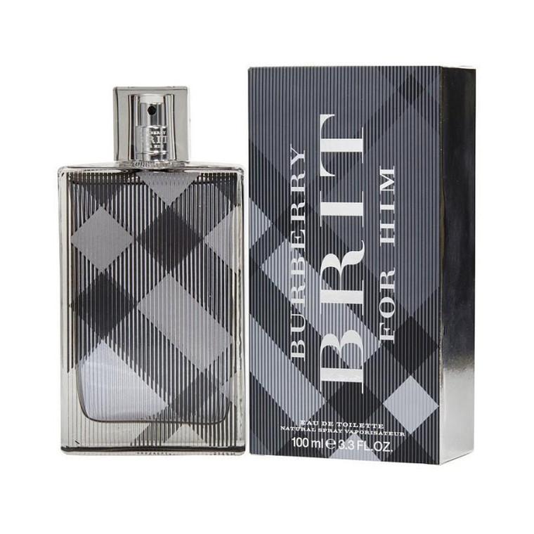 Burberry Brit Cologne for Mens By Burberry Eau de Toilette Edt Spray 3.4 oz