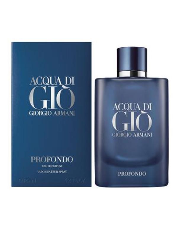Acqua di Gio Profondo Eau De Parfum Spray by Giorgio Armani 4.2 oz