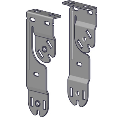 Rollease Skyline Double Vertical Bracket Set. Zinc Plated or White